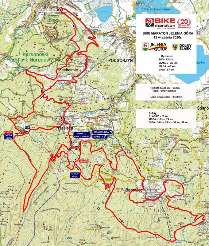Przeprowadzka pod Chojnik. Bike Maraton wJeleniej Górze – zobacz mapę iprofile